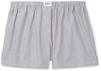Les Girls Les Boys - Striped Cotton Boxer Shorts - Men - Black
