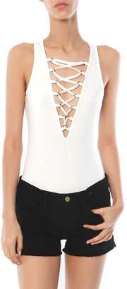 Glamorous SALE Lace Up Bodysuit