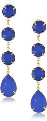 Yochi Royal Linear Drop Earrings