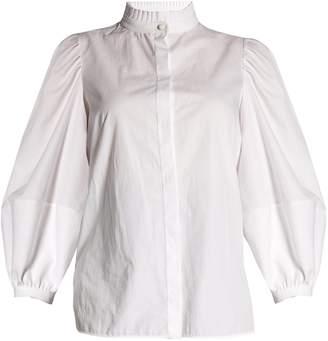 Alexander McQueen Lantern-sleeved poplin blouse