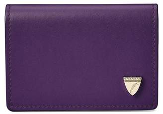 Aspinal of London Accordion Zipped Credit Card Holder In Smooth Amethyst