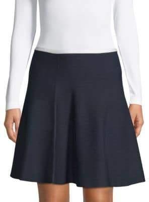 Saks Fifth Avenue BLACK Flared Mini Skirt