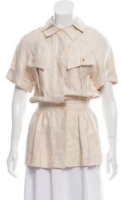 Chanel Linen Short Sleeve Jacket