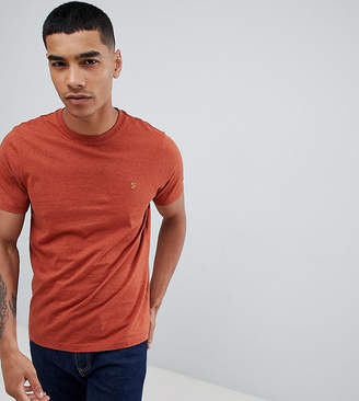 Farah Gloor slim fit logo marl t-shirt in rust