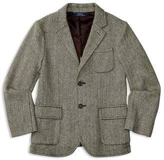 Polo Ralph Lauren Boys' Wool Blend Herringbone Tweed Sport Coat - Little Kid, Big Kid