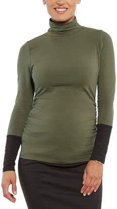 Stowaway Collection Maternity Turtleneck Top