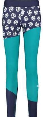 adidas by Stella McCartney Run Paneled Printed Stretch Leggings