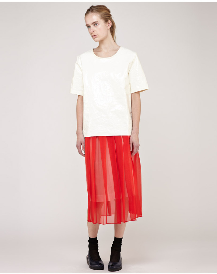 Nomia / sheer midi kilt