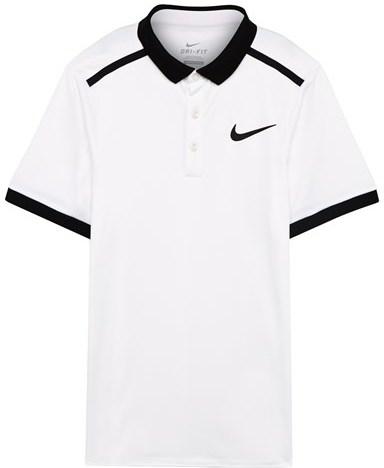 NIKE White Advantage Solid Polo