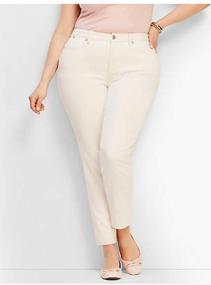 Talbots Plus Size Exclusive Slim Ankle Jeans - Vanilla/Curvy Fit