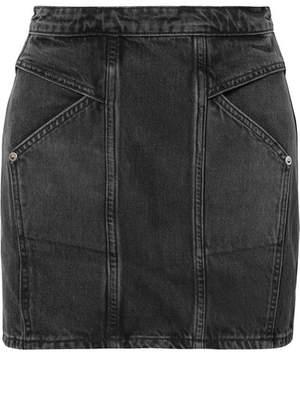 Adaptation Paneled Denim Mini Skirt - Black