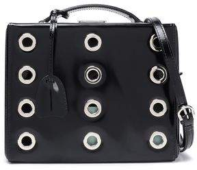 Mark Cross Eyelet-Embellished Leather Shoulder Bag
