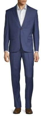 Lauren Ralph Lauren Ultra Flex Sharkskin Wool Suit