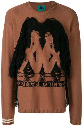 Paura logo knit sweater