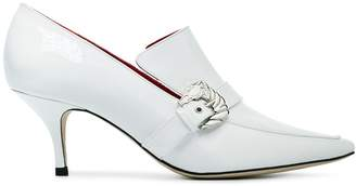 Dorateymur White Patent Leather coupe 70 pumps