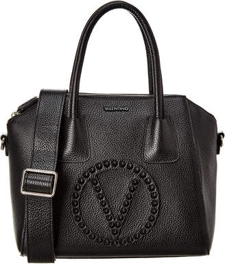 Mario Valentino Valentino By Minimi Rock Dollaro Studs Leather Tote