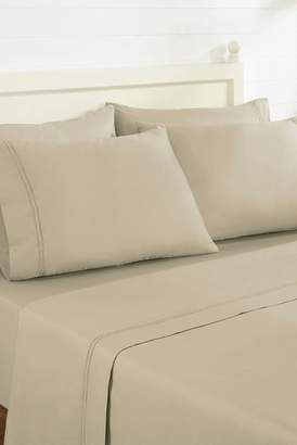 COLONIAL HOME TEXTILES Rich King Sheets - 6 Piece Set - Oxford\u002FTaupe