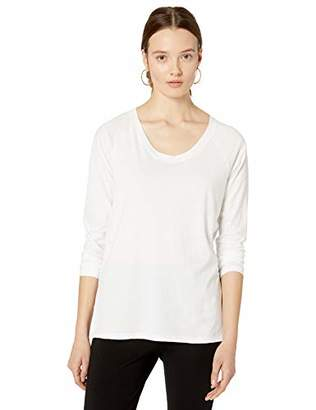 The Drop Women's Ashley Long-Sleeve Scoop Neck Drapey T-Shirt