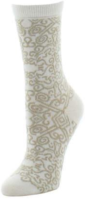 Natori Cashmere Scroll-Pattern Socks