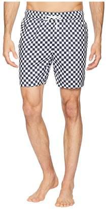 Original Penguin Reversible Checkerboard Print Elastic Volley Trunks Men's Swimwear