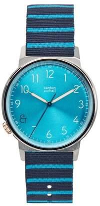 CANTON AND HALL Davis Slim Nylon Strap Watch, 40mm