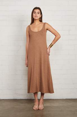 Rachel Pally Metallic Rib Fiona Dress - Caramel Gold