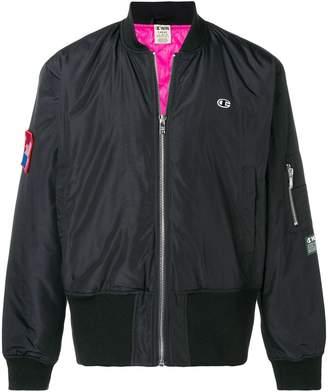 Wood Wood Champion X branded bomber jacket