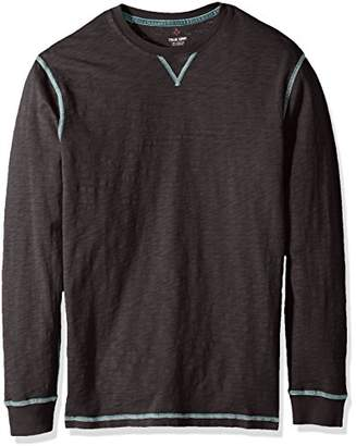 True Grit Men's Heritage Cotton Long Sleeve T-Shirts with Contrast Stitch