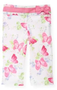 Janie and Jack Butterfly Floral Crop Pant
