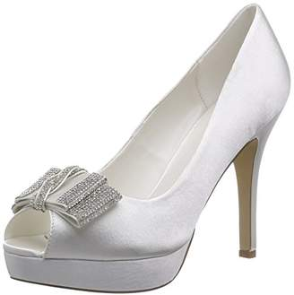 7740e60c328 PeepToe Menbur Wedding Women s Montse Peep-Toe Pumps Ivory Size