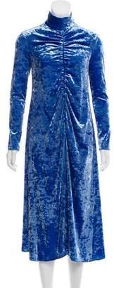 Tibi Velvet Long Sleeve Midi Dress w/ Tags