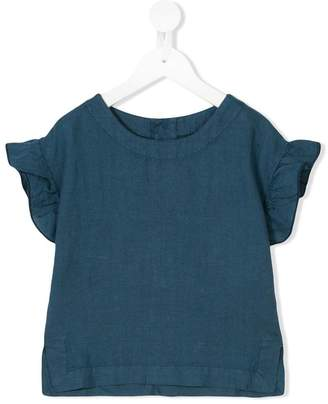 Madson Discount Kids frill trim short sleeve top