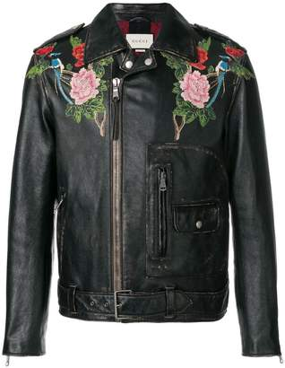 Gucci Angry Cat embroidered jacket