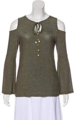 MICHAEL Michael Kors Cold-Shoulder Knit Top