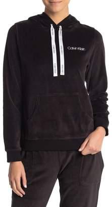 Calvin Klein Velour Lounge Hooded Pullover