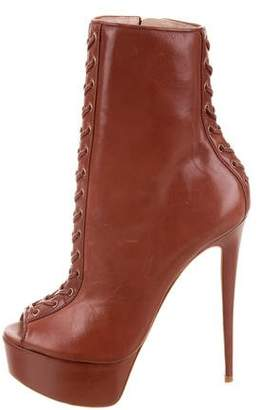 Ruthie Davis Cara Lace-Up Ankle Boots w/ Tags