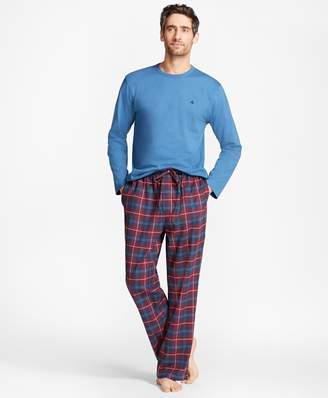 Brooks Brothers Outlined Plaid Flannel Lounge Set