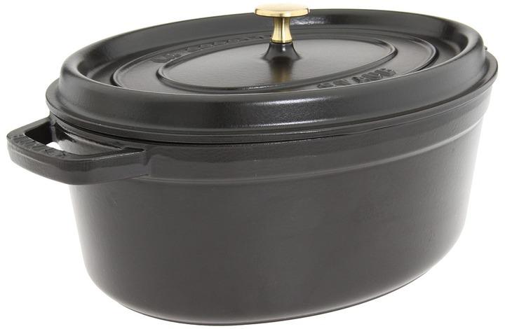 Staub Cast Iron Oval Cocotte 7 Qt. (Black) - Home