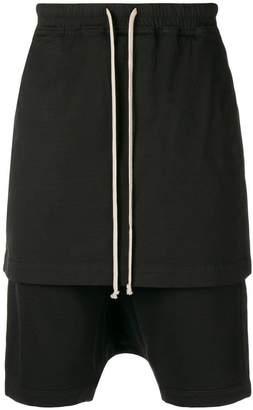 Rick Owens layered track shorts