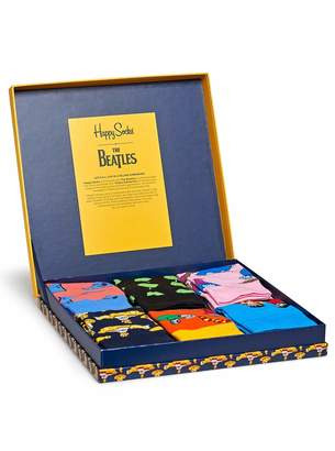 Happy Socks Mens Beatles LP Collector's Box 6-Pack