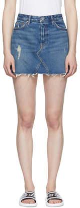 GRLFRND Blue Eva Gusset Denim Miniskirt