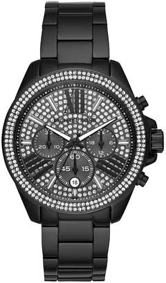 Michael Kors MK6419 Wren Pave Crystal Chronograph Dial Black Stainless Steel Women's Watch