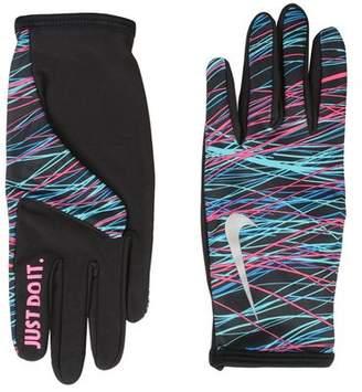 Nike WOMEN'S LIGHTWEIGHT RIVAL RUN GLOVES 2.0 S BLACK/BLACK/SILVER Gloves
