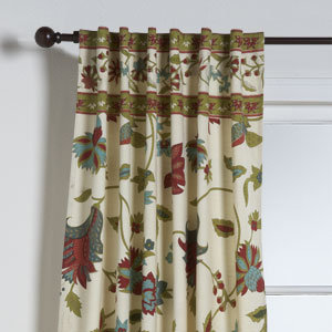 Azra Floral Curtain Panel