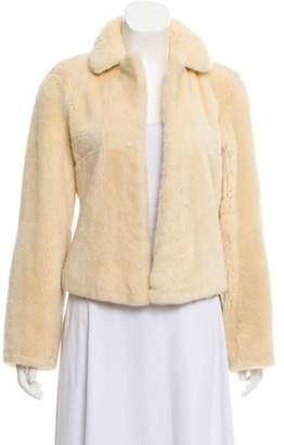 Luisa Beccaria Faux Fur Open-Front Jacket Cream Faux Fur Open-Front Jacket