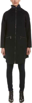 Dawn Levy Parker Wool-Blend Coat Vest Combo