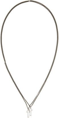 DSQUARED2 Gunmetal Jesus Necklace