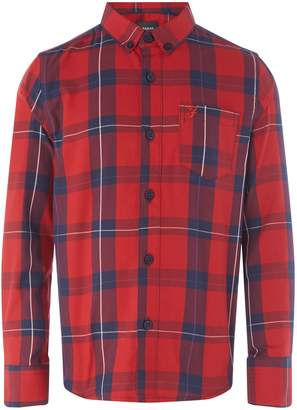 Farah Boys Brushed Check Shirt