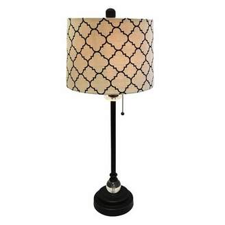 "House of Hampton Michaelson Eggshell Moroccan Print 28"" Table Lamp House of Hampton"