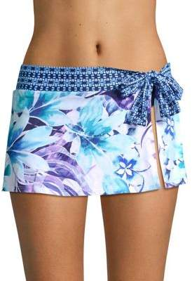 Tommy Bahama Aquapetals Skirted Hipster Bikini Bottoms